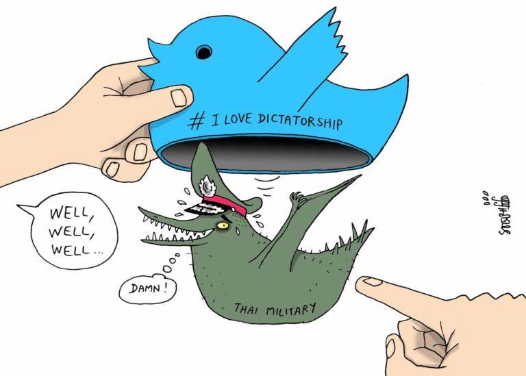 THAÏLANDE – DESSIN DE LA SEMAINE: Sur les réseaux sociaux, l'ombre de la désinformation