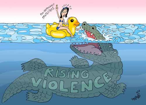 THAÏLANDE – DESSIN DE LA SEMAINE: La violence politique, ce mal thaïlandais