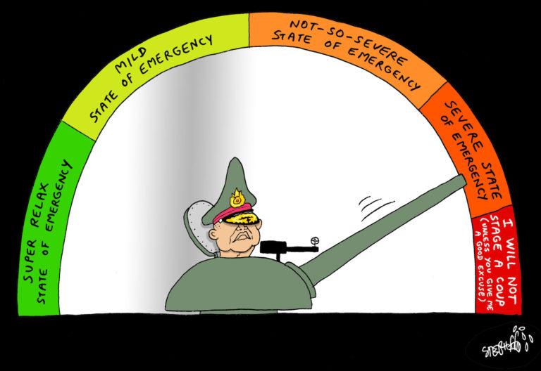 THAÏLANDE – DESSIN DE LA SEMAINE: L'armée thaïlandaise entre patience et colère