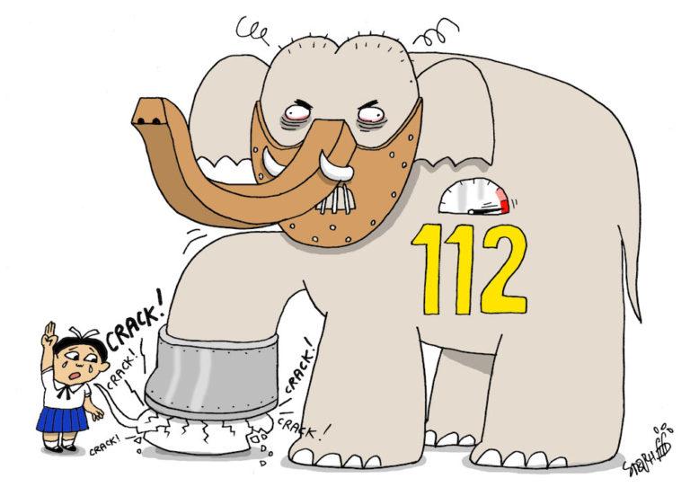 THAÏLANDE – DESSIN DE LA SEMAINE: L'article 112, un éléphant dans le royaume