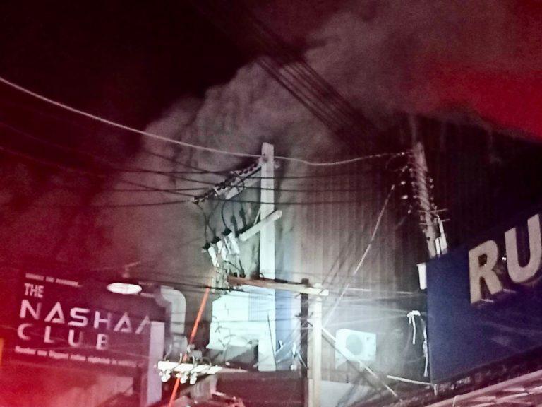 PATTAYA – INCENDIE : Walking Street prise d'assaut par les flammes