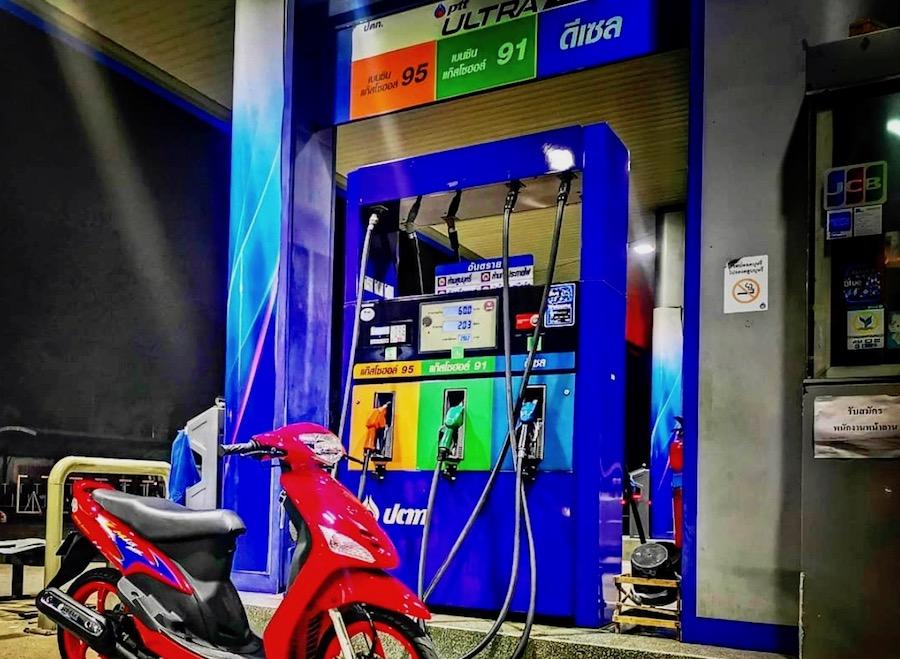 pompe à essence en Thaïlande